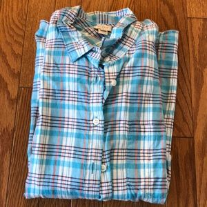 J crew factory plaid flannel perfect shirt